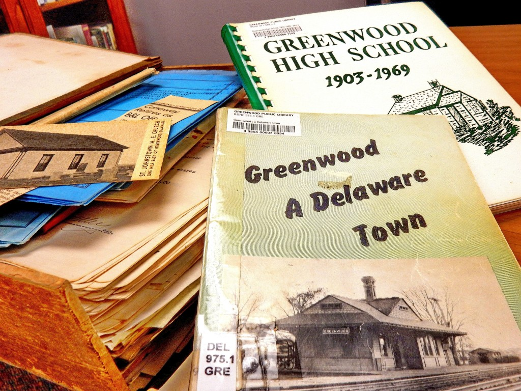 Materials in the collection of the Greenwood Public Library.