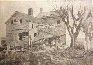 A house damaged in the explosion.  Source:  Greenwood A Delaware Town from the Collection of the Greenwood Library